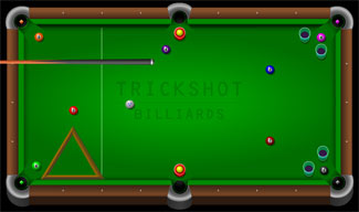 Trickshot Pool Billiards Flash Game